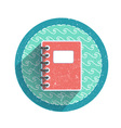 Retro notebook icon vector image