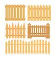 set of fences vector image
