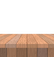 Wooden table Old vintage table in perspective vector image