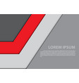 abstract red gray arrow design modern vector image