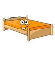 Comfortable cartoon bed vector image