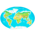 continents oceans on map of world our planet vector image