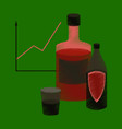 flat shading style icon alcohol infographic vector image