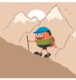Mountaineering vector image