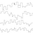 outline of city skyline seamless vector image