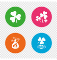 saint patrick day icons money bag with coins vector image