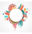 abstract colorful background with text space vector image