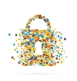 Abstract creative concept icon of padlock vector image vector image