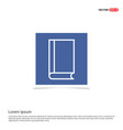 address book icon - blue photo frame vector image