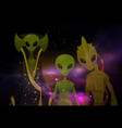 aliens or martians at space or cosmos sci-fi vector image