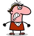 angry man cartoon vector image