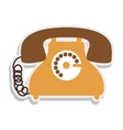 antique phone design with cord vector image vector image