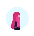 arab woman paranja profile isolated avatar icon vector image