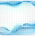 background design with blue waves and dots vector image vector image