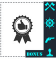 banner ribbon thumb up icon flat vector image