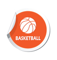 basketball2 ORANGE LABEL vector image vector image