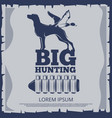 big hunting poster design with duck vector image vector image