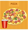 Big tasty pizza vector image