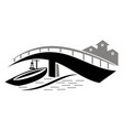 bridge ship logo design template vector image