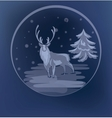 Christmas standing raindeer background vector image