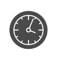 clock solid icon vector image