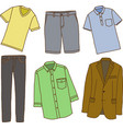 Clothes for men vector image vector image