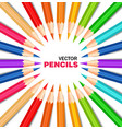 colorful pencils realistic creative round vector image vector image