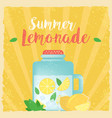 colorful vintage lemonade label poster vector image