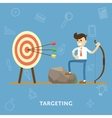 Concept of goal setting and proper targeting vector image