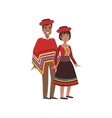 Couple In Peru National Clothes