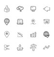 doodle logistics icons set vector image vector image