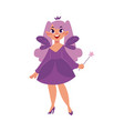 fairy girl fantasy isolated vector image vector image