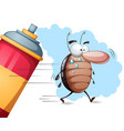 fanny cute cartoon cockroach characters vector image vector image