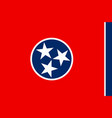 flag of tennessee usa vector image