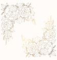 for wedding invitation golden flowers vector image