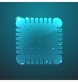 glass biscuit icon vector image vector image