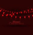 glowing lights for christmas xmas card design vector image