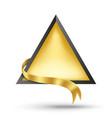 gold billboard and gold ribbon vector image vector image