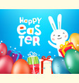 happy easter greeting card template with eggs and vector image vector image