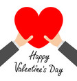 happy valentines day businessman hands arms vector image vector image