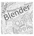How To Buy A Blender Word Cloud Concept vector image vector image