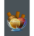 Ice creams and biscuits vector image