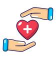 insurance life icon cartoon style vector image vector image