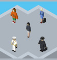 isometric human set of lady seaman girl and vector image vector image