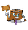 judge tree stump mascot cartoon vector image vector image