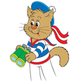 kitten sailor vector image vector image