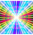 laser beams and colorful pointed shapes vector image