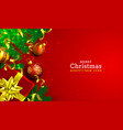 merry christmas happy new year tree with toys vector image vector image