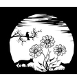 moon and silhouettes vector image vector image