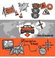 Navigation Banner Set vector image vector image